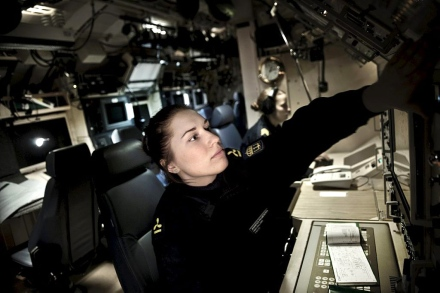 Engine Technician at HMS Uppland, one of Sweden's four submarines.