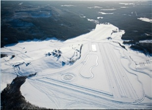 The winter area for vehicle testing