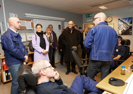 Visit in the control room at LTU Green Fuels.