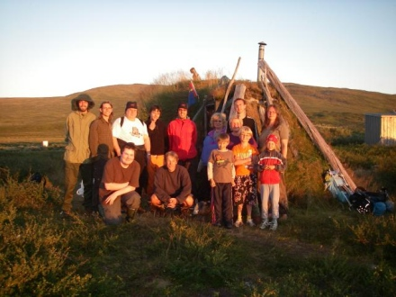 Field test participants in Padjelanta 2006. Students, researchers, participants from the local commu