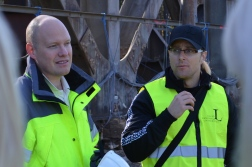 Transport Administration Anders Carolin and LTUs Thomas Blanksvärd -