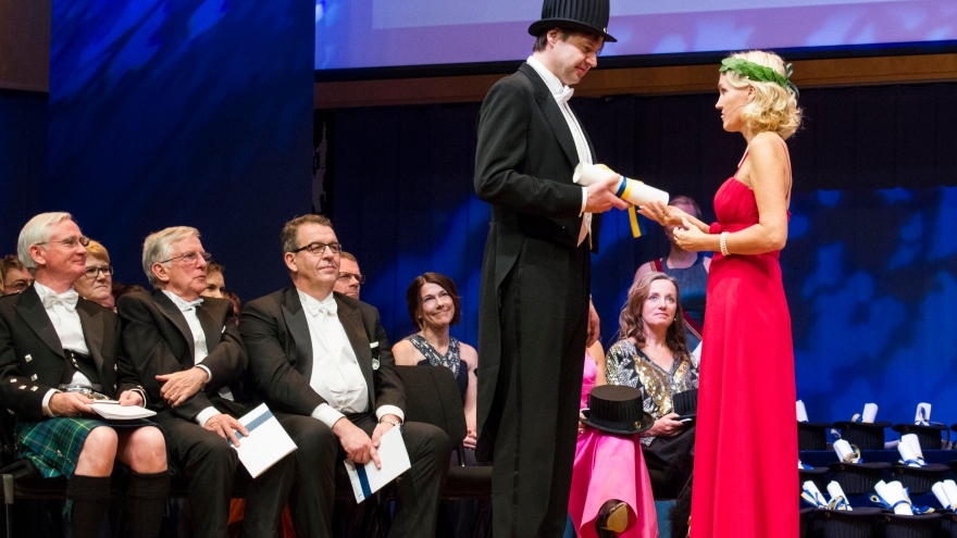 Peter Mattei, an opera singer and an honorary doctorate