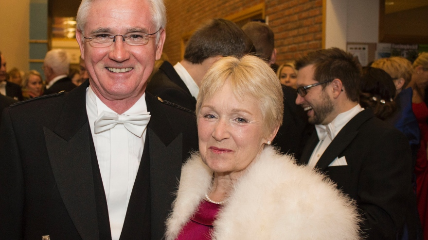 Alan Begg with wife