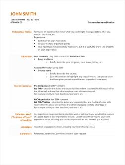 Write a CV Resume   Lule   University of Technology  LTU CV Outline
