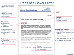 parts of cover letters