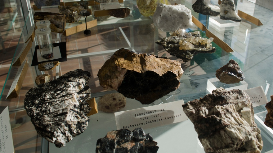 From the mineral collection at Luleå University -
