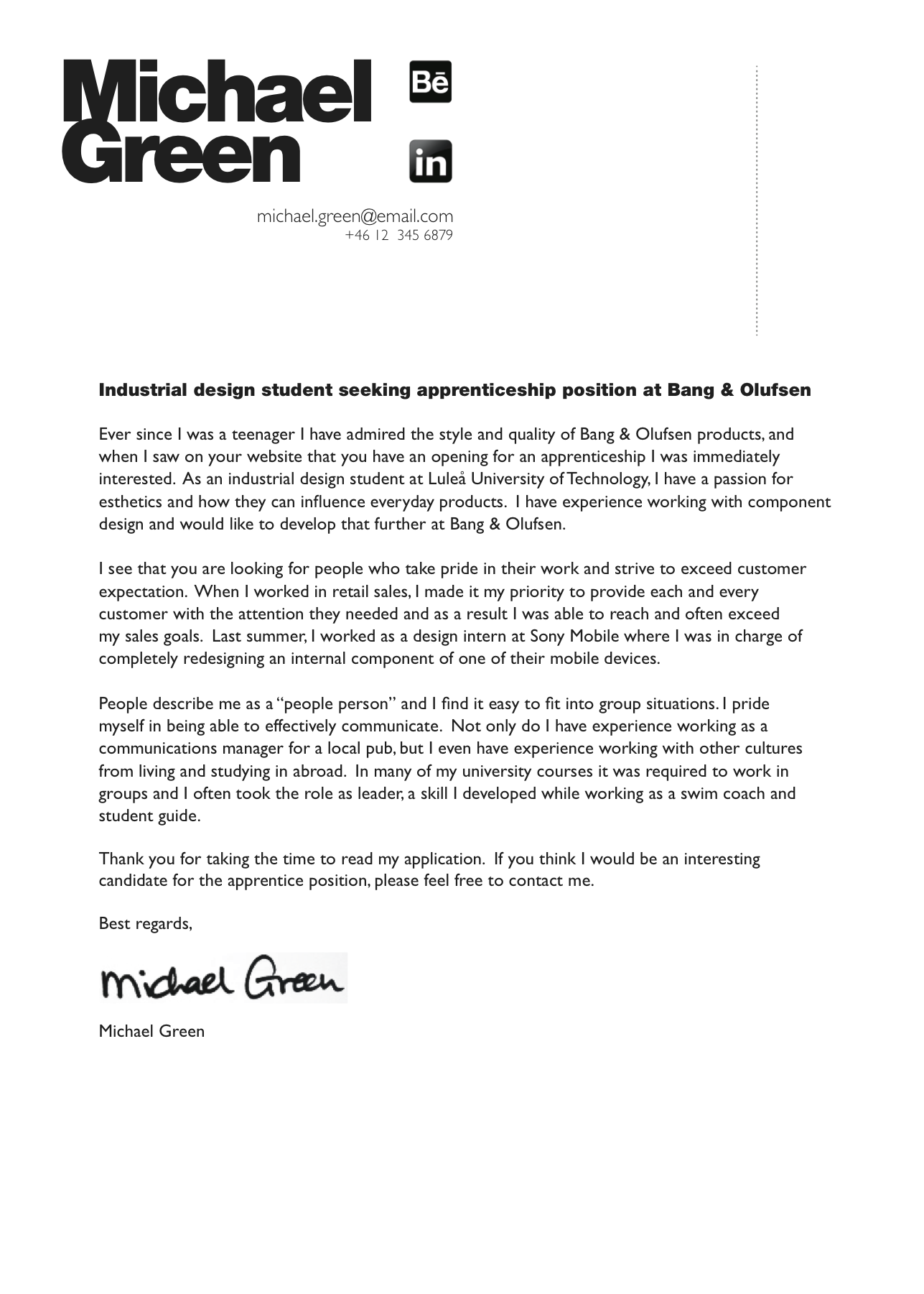Industrial engineering cover letter sample