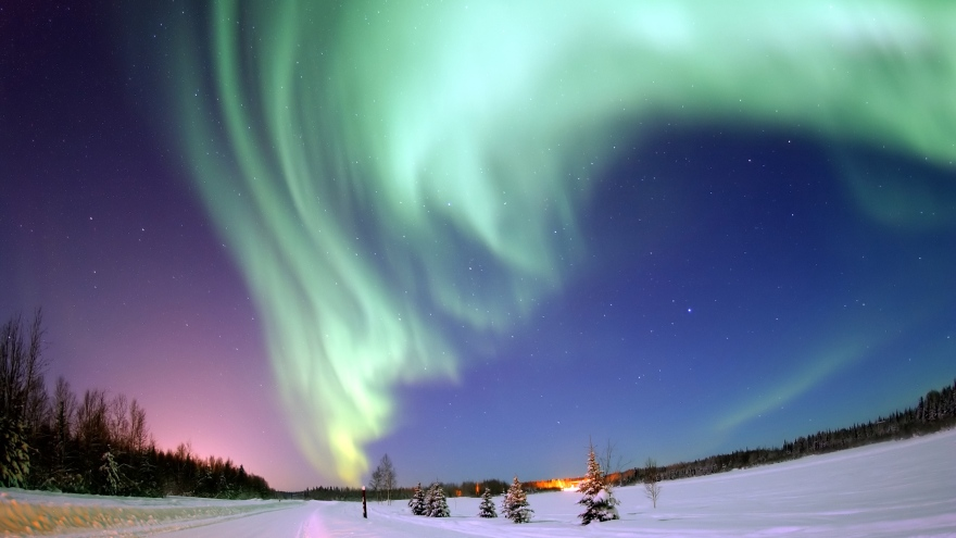 People from all over the world visit Kiruna to see the northern lights.