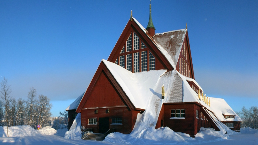 Kiruna's church is a famous landmark