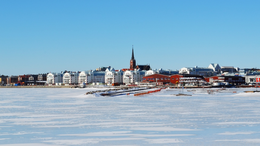 Central Luleå from The Ice Breaker´s harbour