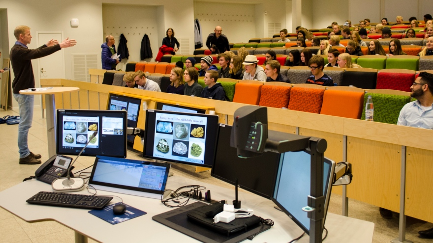 Geology Day at Luleå University of Technology in 2016