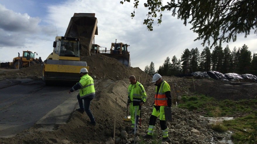 Packing of a slope in Näsliden.