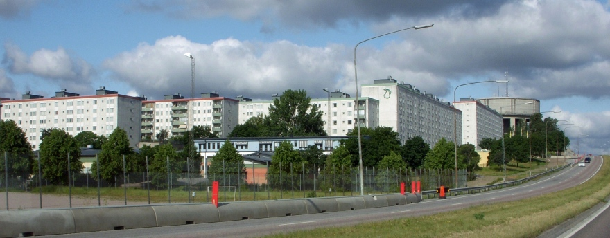 Example from the million program - Tensta, Stockholm. Image source: Wikimedia Commons