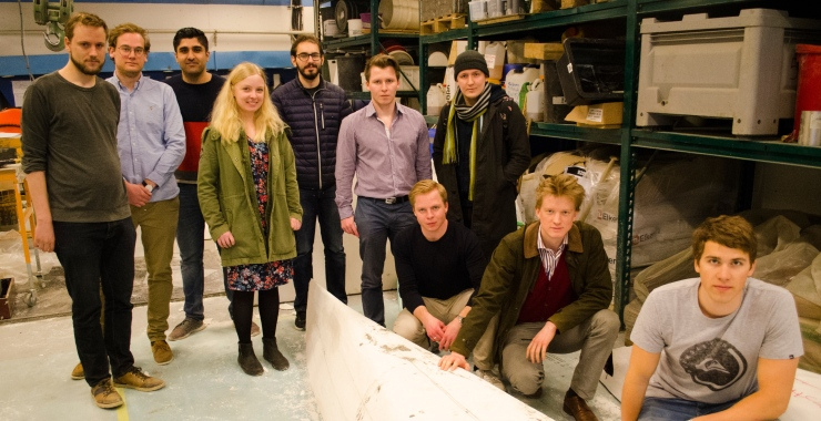 Students started building concrete canoe for international competition in Germany