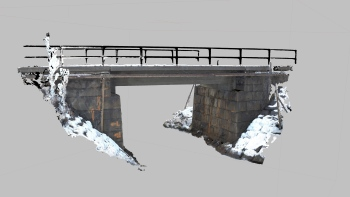 Point cloud obtained by close range photogrammetry – Railway bridge in Kiruna