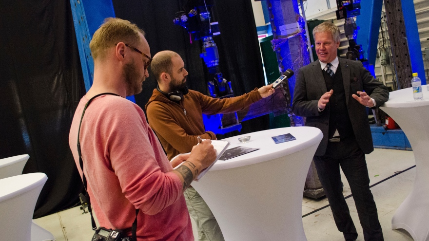 Professor Örjan Johansson is interviewed