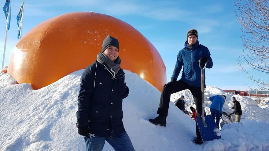 Igloo building in the middle of the campus - Luleå