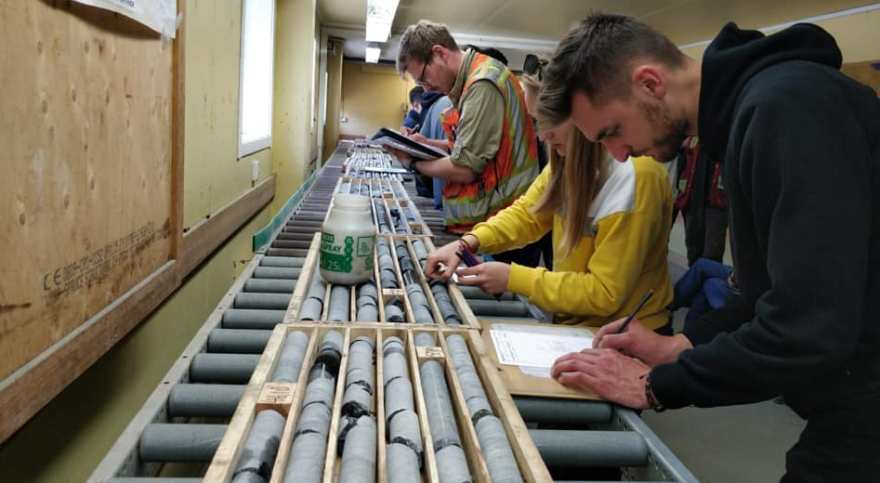 On Friday, we visited the National Drill Core Archive in Malå