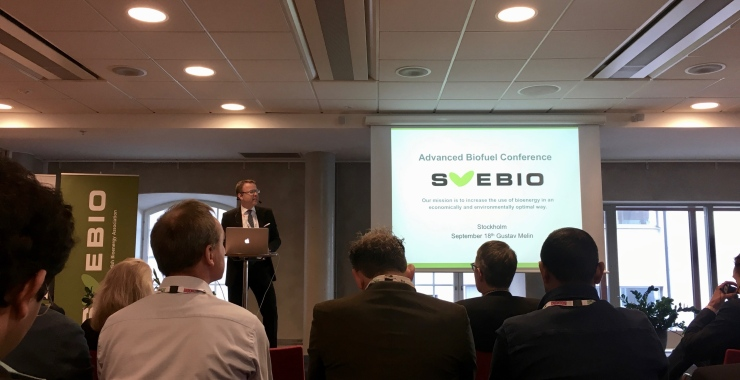 Svebio's CEO Gustav Melin opens the conference
