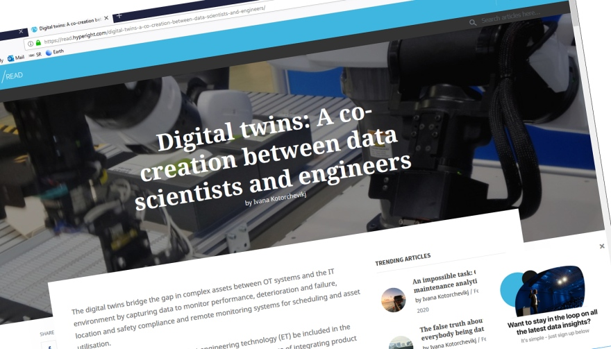 Digital twins: A co-creation between data scientists and engineers