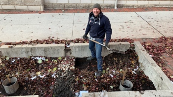 Infiltration tests and sampling November 13th 2019 outside EPA in Columbus, Ohio.
