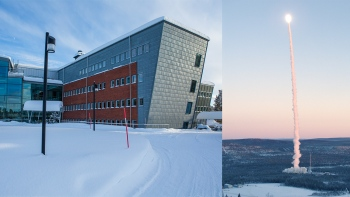Space Campus in Kiruna and rocket launch from Esrange