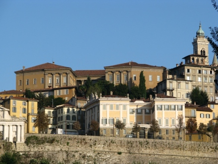Bergamo Alta, the old village and the wall