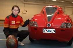 Image; Erica Strömberg drove Baldos II in tests and competition in Germany this spring.