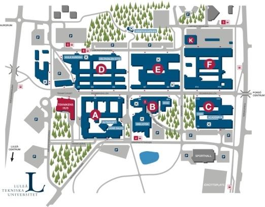 ltu karta Campus Map Lulea   Luleå University of Technology ltu karta