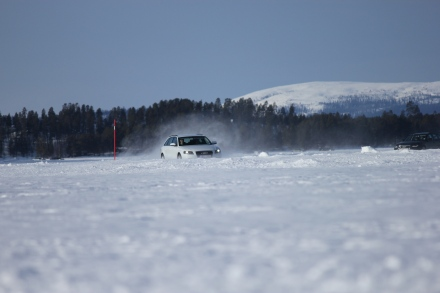 Image: LTU students are testing Automotive Systems Colmis in Arjeplog